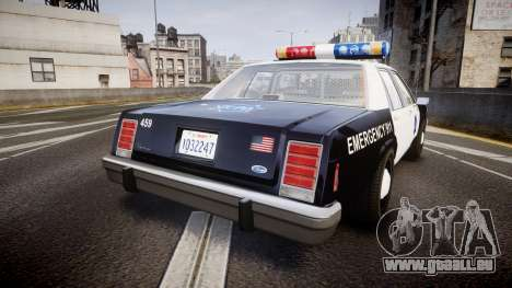 Ford LTD Crown Victoria 1987 LCPD [ELS] für GTA 4 hinten links Ansicht
