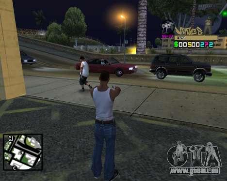 C-HUD Vagos pour GTA San Andreas cinquième écran