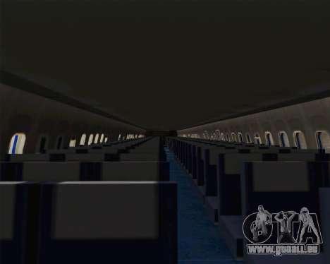 Boeing 707-300 CAAC für GTA San Andreas Innenansicht