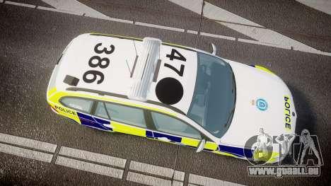 BMW 325d E91 2009 Sussex Police [ELS] für GTA 4 rechte Ansicht