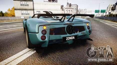Pagani Zonda Cinque Roadster 2010 für GTA 4 hinten links Ansicht