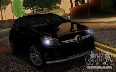 Mercedes-Benz A45 AMG pour GTA San Andreas vue de dessus