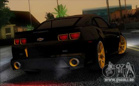 Chevrolet Camaro VR (IVF) pour GTA San Andreas vue de dessous