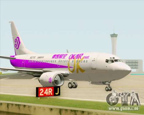 Boeing 737-500 Okay Airways pour GTA San Andreas vue intérieure