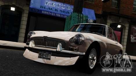 MGB GT 1965 pour GTA 4 est un droit
