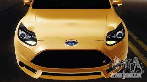 Ford Focus ST 2013 pour GTA San Andreas vue intérieure