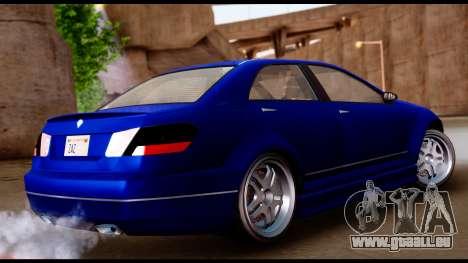 GTA 5 Schafter Bumper für GTA San Andreas linke Ansicht