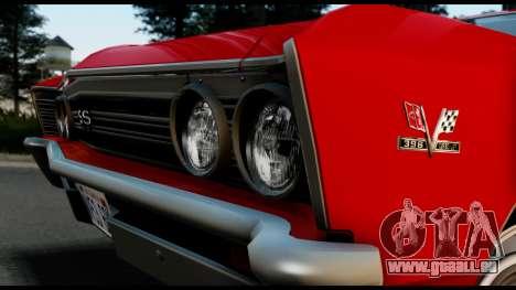 Chevrolet Chevelle SS 396 L78 Hardtop Coupe 1967 pour GTA San Andreas vue de droite