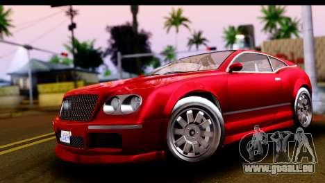 GTA 5 Enus Cognoscenti Cabrio IVF pour GTA San Andreas vue de droite