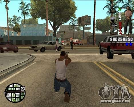 C-HUD La Cosa Nostra für GTA San Andreas dritten Screenshot