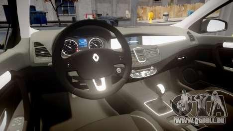 Renault Laguna III 2007 für GTA 4 Rückansicht