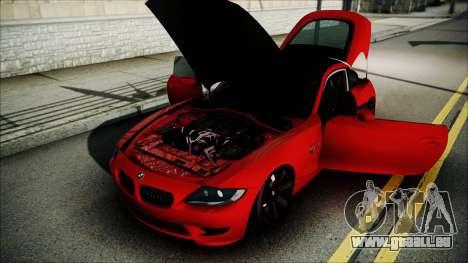 BMW Z4 M85 pour GTA San Andreas vue intérieure