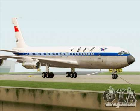 Boeing 707-300 CAAC pour GTA San Andreas vue arrière