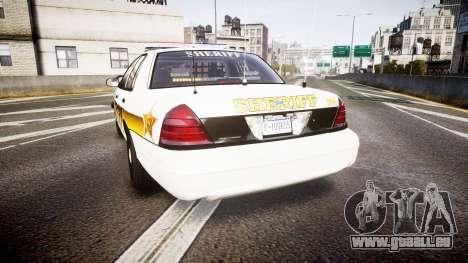 Ford Crown Victoria Sheriff Liberty [ELS] pour GTA 4 Vue arrière de la gauche