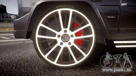 Mercedes-Benz G65 Brabus rims2 für GTA 4 Rückansicht