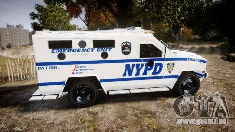 Lenco BearCat NYPD ESU [ELS] für GTA 4 linke Ansicht
