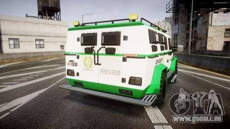 Gruppe6 Van [ELS] pour GTA 4 Vue arrière de la gauche