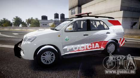 Toyota Hilux SW4 2014 Ronda PMCE [ELS] pour GTA 4 est une gauche
