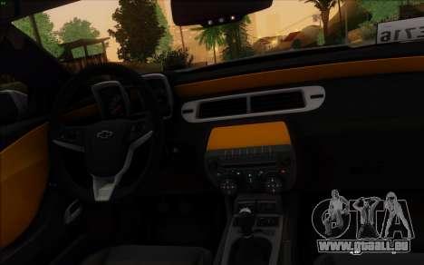 Chevrolet Camaro VR (IVF) pour GTA San Andreas sur la vue arrière gauche