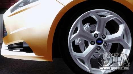 Ford Focus ST 2013 pour GTA San Andreas vue arrière