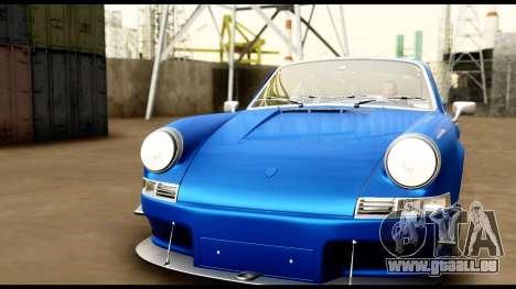 Porsche 911 Carrera 2.7RS Coupe 1973 Tunable für GTA San Andreas Innen