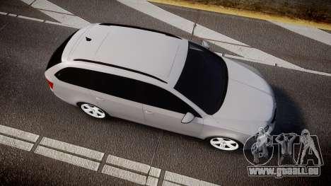 Skoda Octavia Combi vRS 2014 [ELS] Unmarked für GTA 4 rechte Ansicht