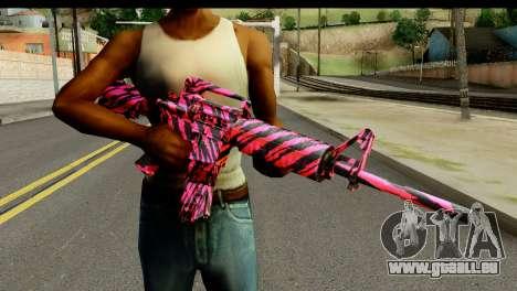 Red Tiger M4 für GTA San Andreas dritten Screenshot