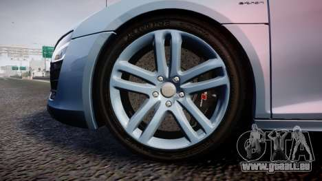 Audi R8 E-Tron 2014 dual tone für GTA 4 Rückansicht