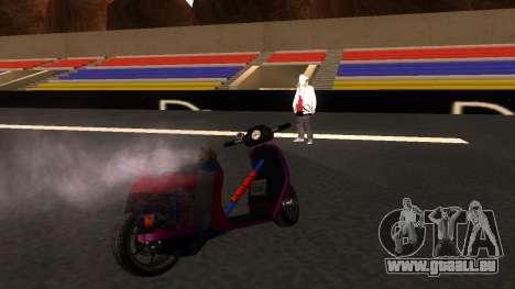 Faggio Stunt pour GTA San Andreas sur la vue arrière gauche