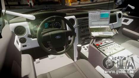 Ford Explorer 2008 LCPD [ELS] pour GTA 4 Vue arrière