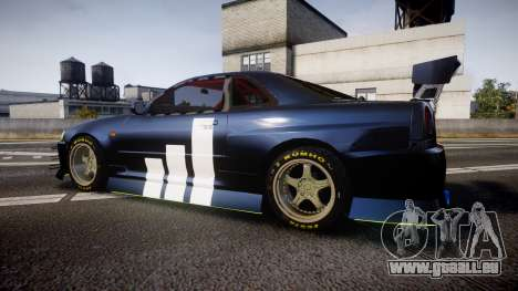 Nissan Skyline R34 GT-R Drift für GTA 4 linke Ansicht