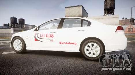 Holden Commodore Omega Queensland Taxi v3.0 pour GTA 4 est une gauche