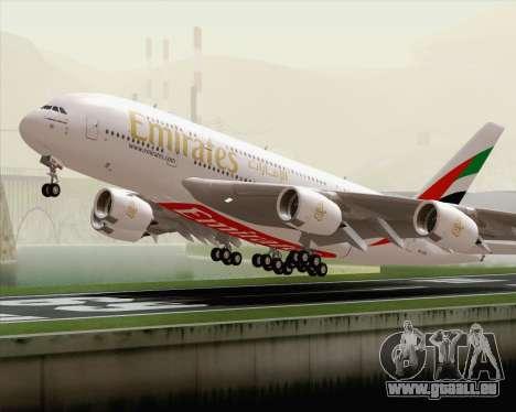 Airbus A380-800 Emirates (A6-EDH) pour GTA San Andreas vue de côté