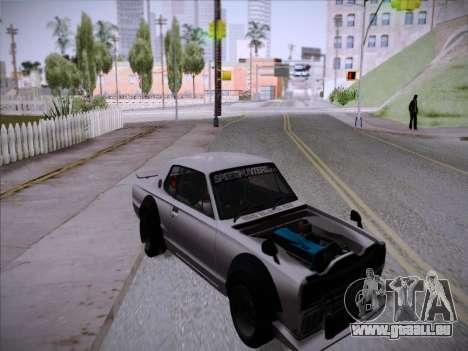 Nissan Skyline 2000 GT-R Drift Edition pour GTA San Andreas vue de droite