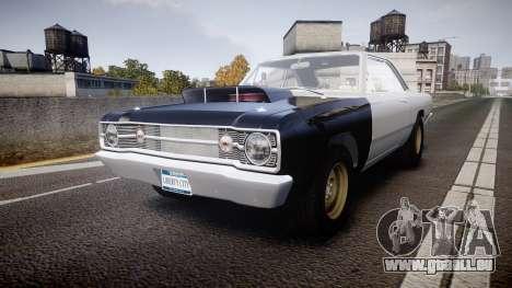 Dodge Dart HEMI Super Stock 1968 rims1 pour GTA 4