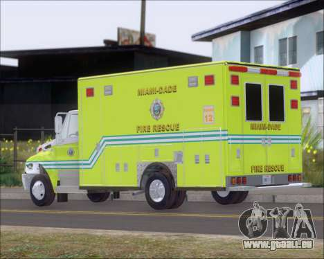 Pierce Commercial Miami Dade Fire Rescue 12 pour GTA San Andreas vue de droite