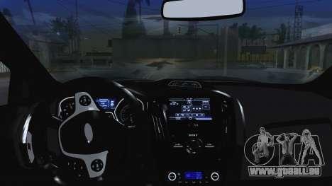Ford Focus ST 2013 pour GTA San Andreas vue de dessus