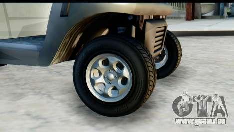 GTA 5 Caddy v2 für GTA San Andreas zurück linke Ansicht