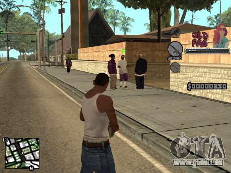 C-HUD Universal v2 pour GTA San Andreas troisième écran