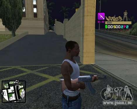 C-HUD Vagos für GTA San Andreas her Screenshot