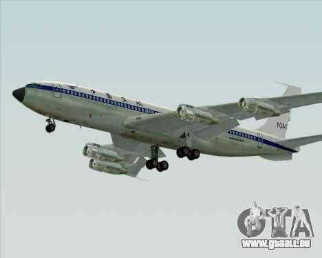 Boeing 707-300 CAAC pour GTA San Andreas sur la vue arrière gauche