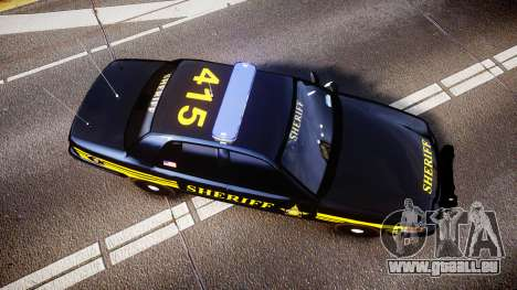 Ford Crown Victoria Sheriff [ELS] black für GTA 4