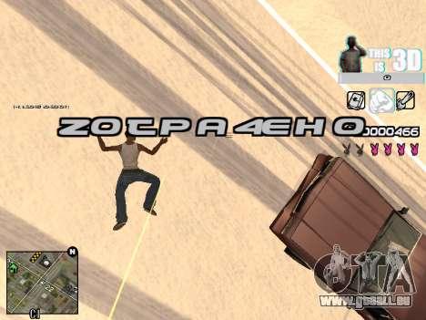 C-HUD 3D pour GTA San Andreas sixième écran