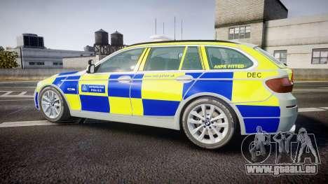 BMW 525d F11 2014 Metropolitan Police [ELS] pour GTA 4 est une gauche