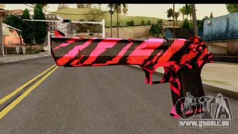 Red Tiger Desert Eagle für GTA San Andreas