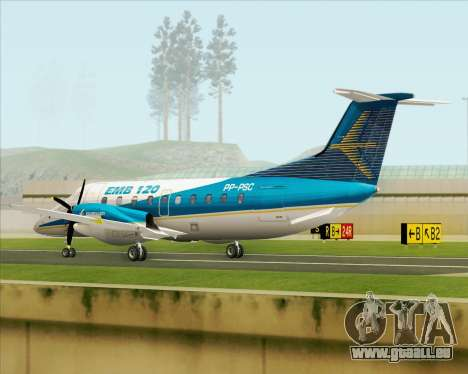 Embraer EMB 120 Brasilia Embraer Livery pour GTA San Andreas vue de droite