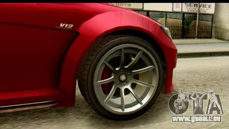 GTA 5 Benefactor Schwartzer für GTA San Andreas zurück linke Ansicht