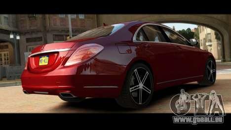 Mercedes-Benz S500 W222 pour GTA 4 Vue arrière