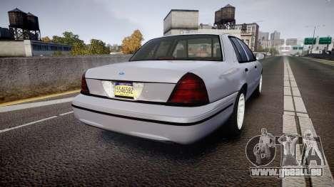 Ford Crown Victoria Unmarked Police [ELS] für GTA 4 hinten links Ansicht