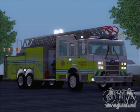 Pierce Arrow XT Miami Dade FD Ladder 22 für GTA San Andreas linke Ansicht